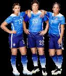 Abby Wambach, Alex Morgan, Sydney Leroux football render