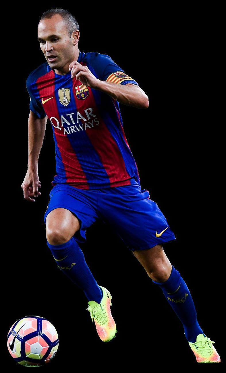 Andres iniesta football render 31450 footyrenders - Render barcelona ...