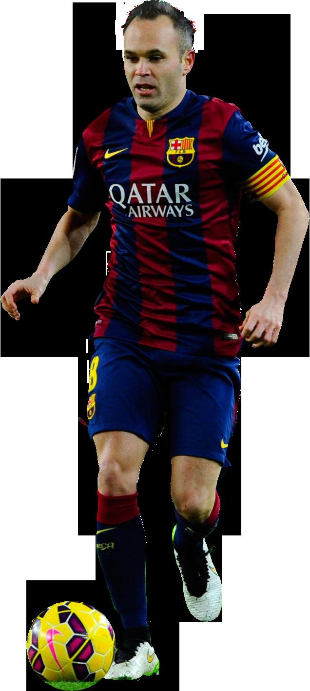Andres iniesta football render 10781 footyrenders - Render barcelona ...