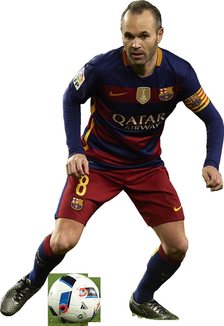 Andres iniesta football render 20782 footyrenders - Render barcelona ...