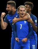Antoine Griezmann, Olivier Giroud & Kingsley Coman