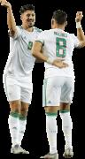 Baghdad Bounedjah & Youcef Belaili football render