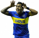 Carlos Tevez football render