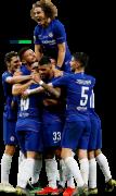 Andreas Christensen, Olivier Giroud, Eden Hazard, Emerson, Cesar Azpilicueta, David Luiz, Jorginho & Pedro Rodriguez football render