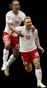 Christian Eriksen & Yussuf Poulsen football render