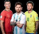 Cristiano Ronaldo, Lionel Messi & Neymar