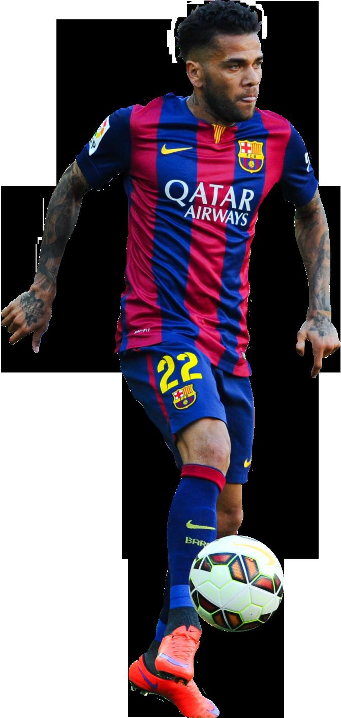 Dani alves football render 13565 footyrenders - Render barcelona ...
