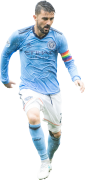 David Villa football render