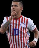 Derlis Gonzalez football render