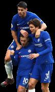 Eden Hazard, Alvaro Morata & Marcos Alonso