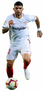 Éver Banega football render