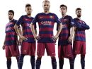 Luis Suarez, Neymar, Andres Iniesta, Lionel Messi & Gerard Piqué