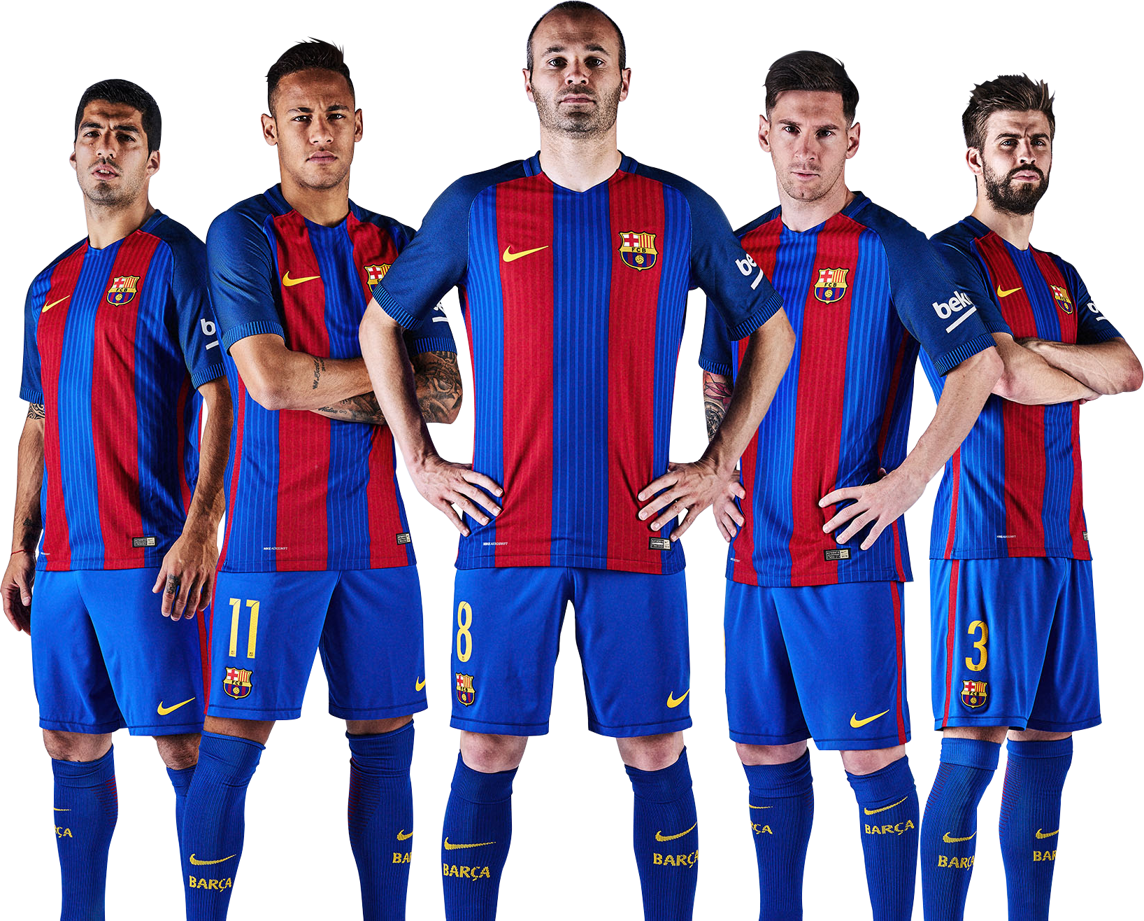 Luis Suarez, Neymar, Andres Iniesta, Lionel Messi & Gerard Piquérender