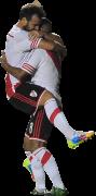 Fernando Cavenaghi & Carlos Andrés Sanchez football render