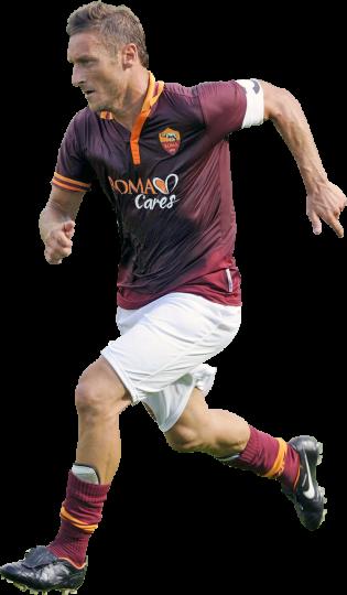 Francesco Totti football render - 1148 - FootyRenders