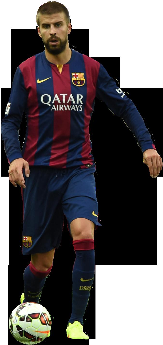 Gerard piqu football render 7171 footyrenders - Render barcelona ...