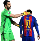 Gianluigi Buffon & Lionel Messi