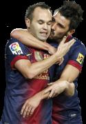 Andres Iniesta & David Villa
