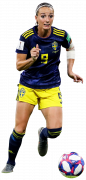 Kosovare Asllani football render