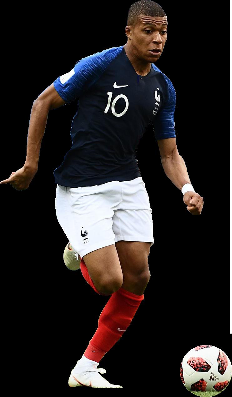 Kylian Mbappé football render - 47579 - FootyRenders