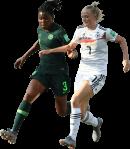 Osinachi Ohale & Lea Schüller football render