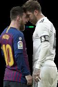 Lionel Messi & Sergio Ramos football render