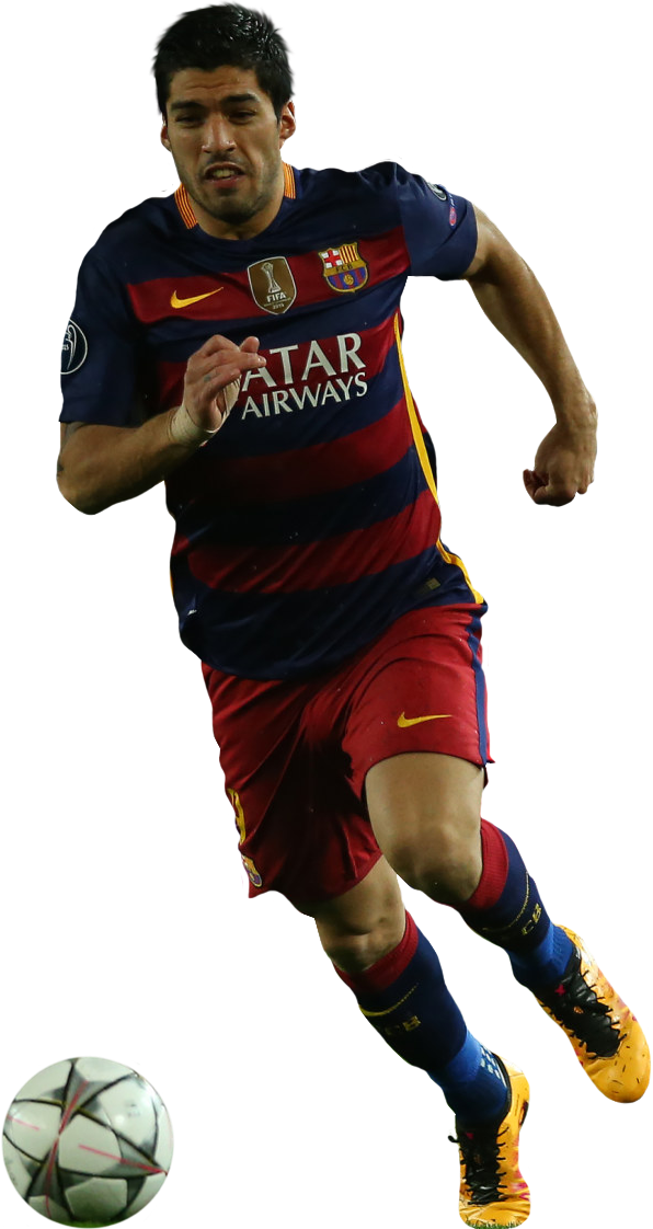 Luis suarez football render 24073 footyrenders - Render barcelona ...