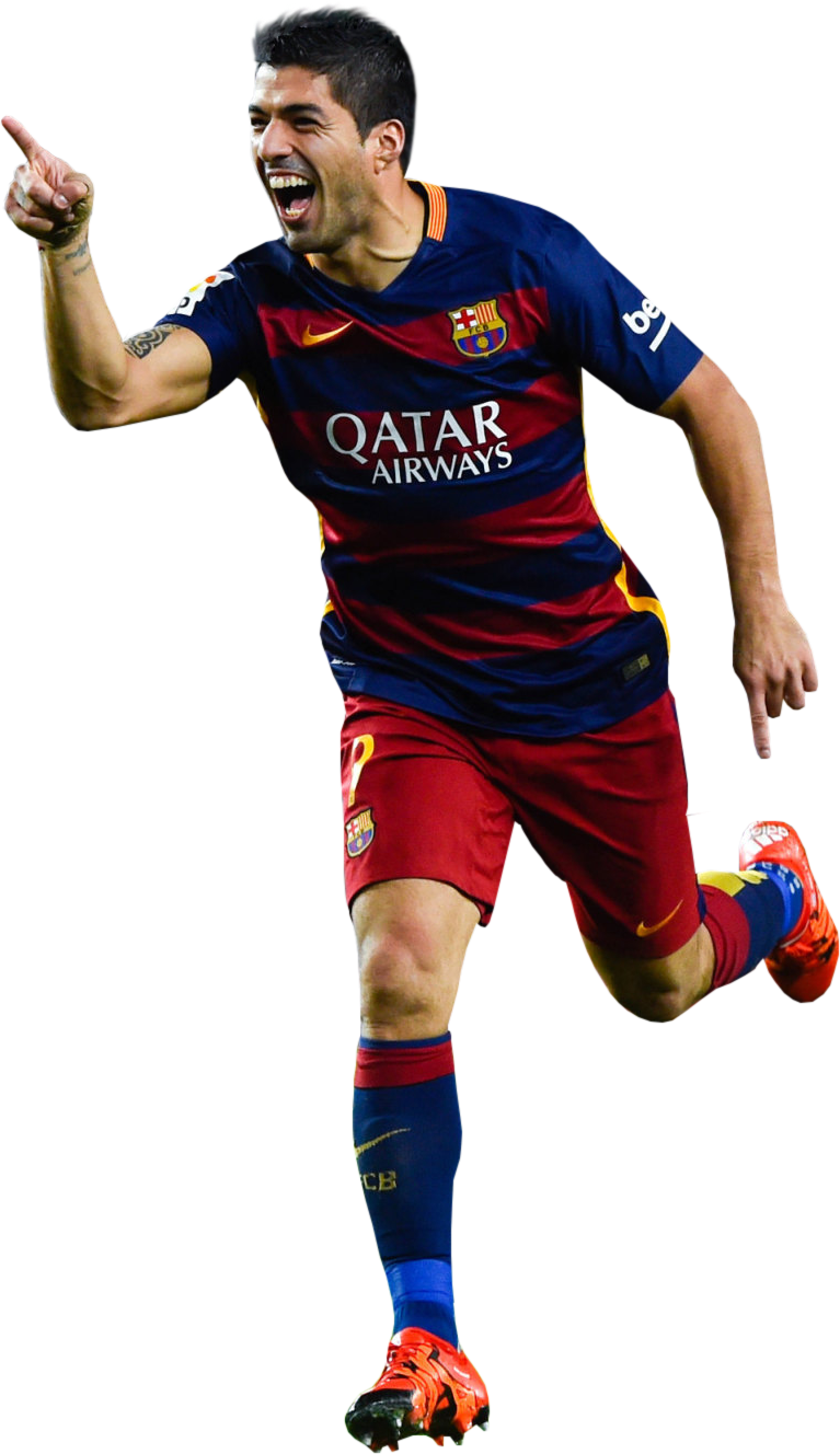 Luis suarez football render 17782 footyrenders - Render barcelona ...