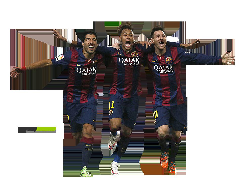 Luis suarez neymar lionel messi football render 10214 footyrenders - Render barcelona ...