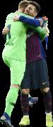Marc-André ter Stegen & Lionel Messi