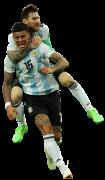 Marcos Rojo & Lionel Messi