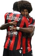 Mario Balotelli & Dante football render
