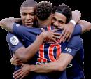 Kylian Mbappé, Neymar & Edinson Cavani football render