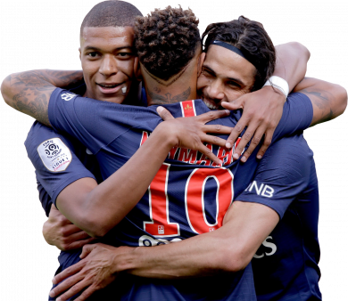 Kylian Mbappé, Neymar & Edinson Cavani
