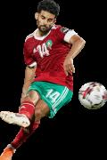 Mbark Boussoufa football render
