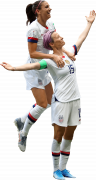Alex Morgan & Megan Rapinoe football render