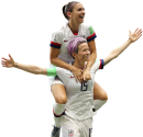 Megan Rapinoe & Alex Morgan football render
