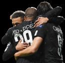 Neymar, Kylian Mbappé, & Edinson Cavani football render