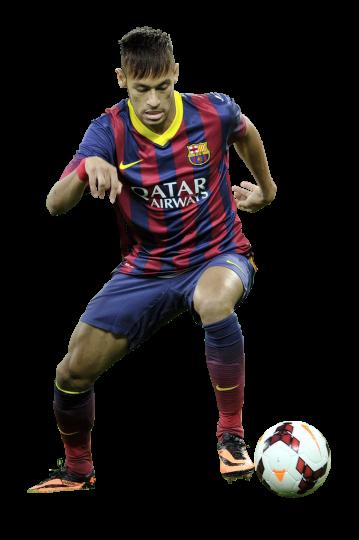 Neymar football render 1210 footyrenders - Render barcelona ...