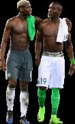 Paul Pogba & Florentin Pogba football render
