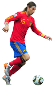Sergio Ramos football render
