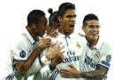 Raphael Varane, James Rodriguez, Danilo & Gareth Bale