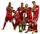 Robert Lewandowski, Thomas Müller, Arturo Vidal, Joshua Kimmich, Franck Ribéry & Rafinha