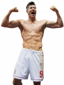 Robert Lewandowski football render