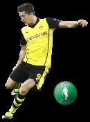 Roberto Lewandowski football render