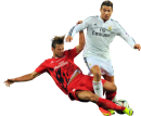 Grzegorz Krychowiak and Cristiano Ronaldo football render