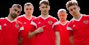 Aleksandr Samedov, Artyom Dzyuba, Aleksey Miranchuk, Igor Smolnikov & Aleksandr Golovin football render