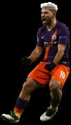 Sergio Aguero football render