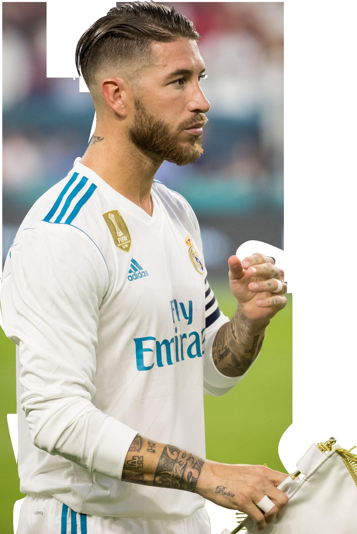 Sergio Ramos football render FootyRenders