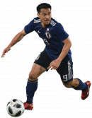 Shinji Okazaki football render